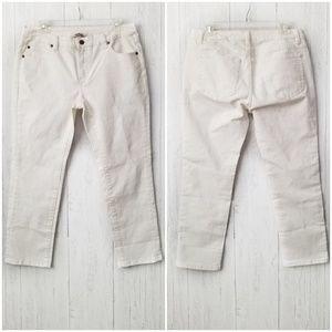 Soft Surroundings Petite Weekend Jeans Ivory Sz 4P